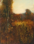 image of landscape oil painting Evening Field 10 by David Ladmore