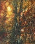 image of landscape oil painting Forest Light 13 by David Ladmore