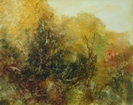image of landscape oil painting Forest Light 14 by David Ladmore