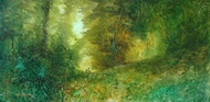 image of landscape oil painting Forest Light 35 by David Ladmore