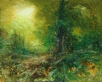 image of landscape oil painting Forest Light 38 by David Ladmore
