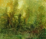 image of landscape oil painting Forest Light 7 by David Ladmore