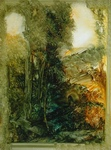 image of landscape oil painting Green and Gold 4 by David Ladmore