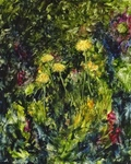 image of oil painting Dandelions #2 by Laurie Ladmore