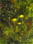 image of oil painting Dandelions #4 by Laurie Ladmore