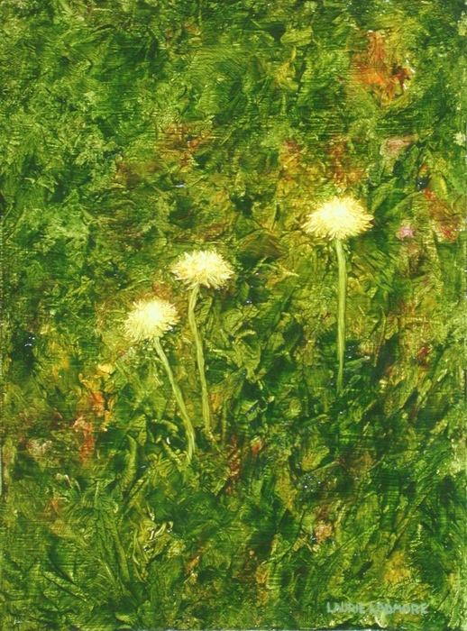 image of oil painting Dandelions#6 by Laurie Ladmore