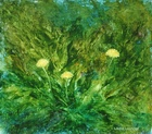 image of oil painting Dandelions #7 by Laurie Ladmore