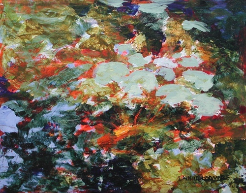 image of acrylic painting Floating by Laurie Ladmore