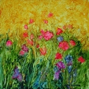 image of oil painting Flower Dance #5 by Laurie Ladmore