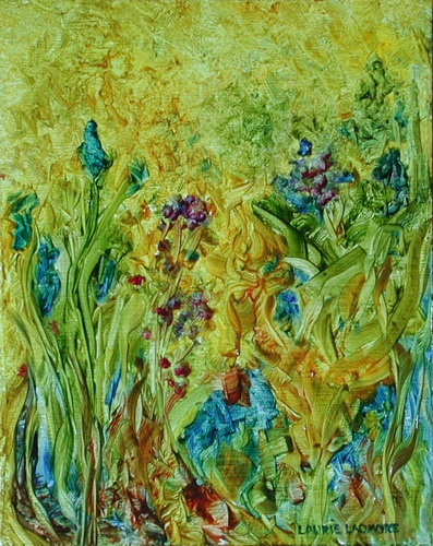 image of oil painting Flower Dance #4 by Laurie Ladmore