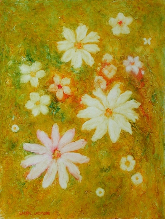 image of floral oil painting Flower Dream #2 by Laurie Ladmore
