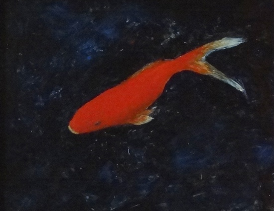 image of oil painting Goldfish #2 by Laurie Ladmore