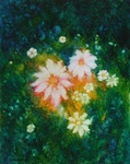image of floral oil painting Night Flowers #2 by Laurie Ladmore