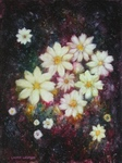 image of floral oil painting Night Flowers #3 by Laurie Ladmore