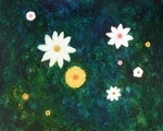 image of floral oil painting Night Flowers #8 by Laurie Ladmore