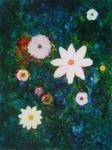image of floral oil painting Night Flowers #9 by Laurie Ladmore