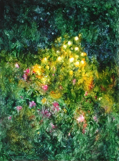image of oil painting Night Garden #3 by Laurie Ladmore