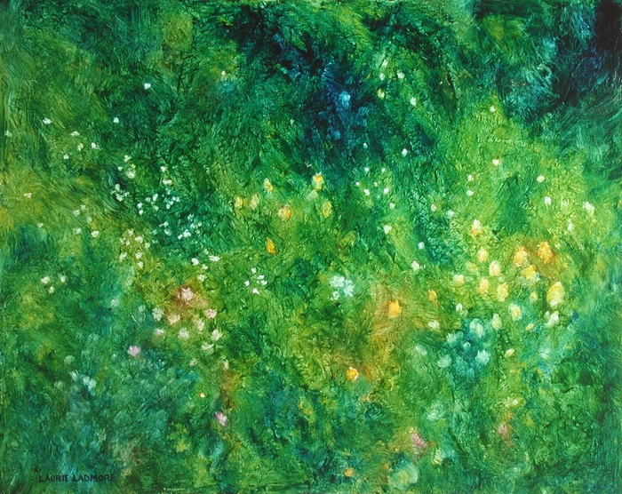 image of oil painting Night Garden #9 by Laurie Ladmore