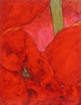 image of acrylic painting Red and Pink by Laurie Ladmore