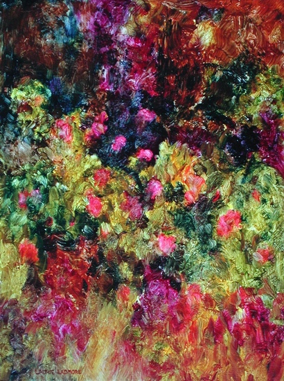 image of oil painting Wild Roses by Laurie Ladmore