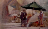 image of watercolor painting Market People VII by David Ladmore