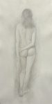 image of nude silverpoint drawing Standing Nude #3 by David Ladmore