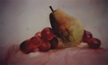 image of watercolor painting Still Life with Grapes by David Ladmore