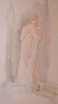 image of figurative watercolor painting Study for The Artist's Wife II by David Ladmore