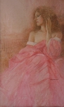 image of figurative watercolor painting The Artist's Wife by David Ladmore