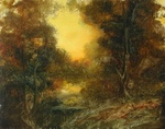 image of landscape oil painting Warm Earth 30 by David Ladmore