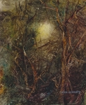 image of landscape oil painting Woodlands 100 by David Ladmore