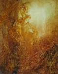 image of landscape oil painting Woodlands 42 by David Ladmore