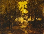 image of landscape oil painting Woodlands 34 by David Ladmore