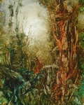 image of landscape oil painting Woodlands 32 by David Ladmore